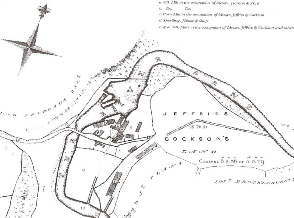 Old map of Havannah Weir