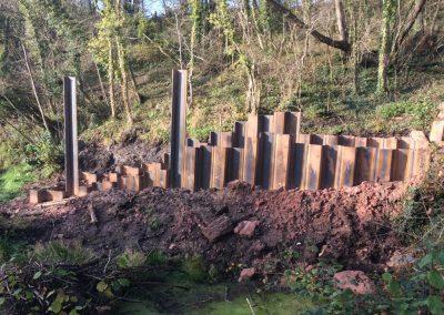 Screw Channel: Cut-down steel sheet-piles