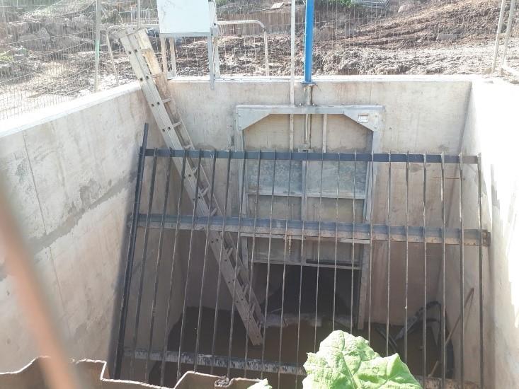 Inlet Sluice gate (in open position)
