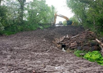 Access track covered over at the site of Congleton Hydro