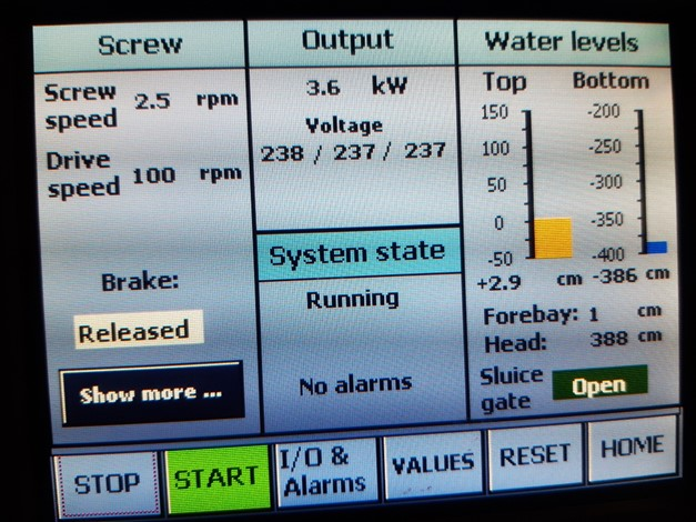 Control System Screen